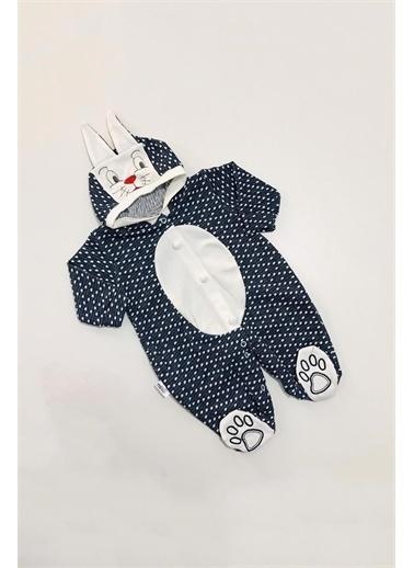 Pelops Kids Million Babies Kapşonlu Tavşanlı Erkek Bebek Patikli Tulum 2062 Gri